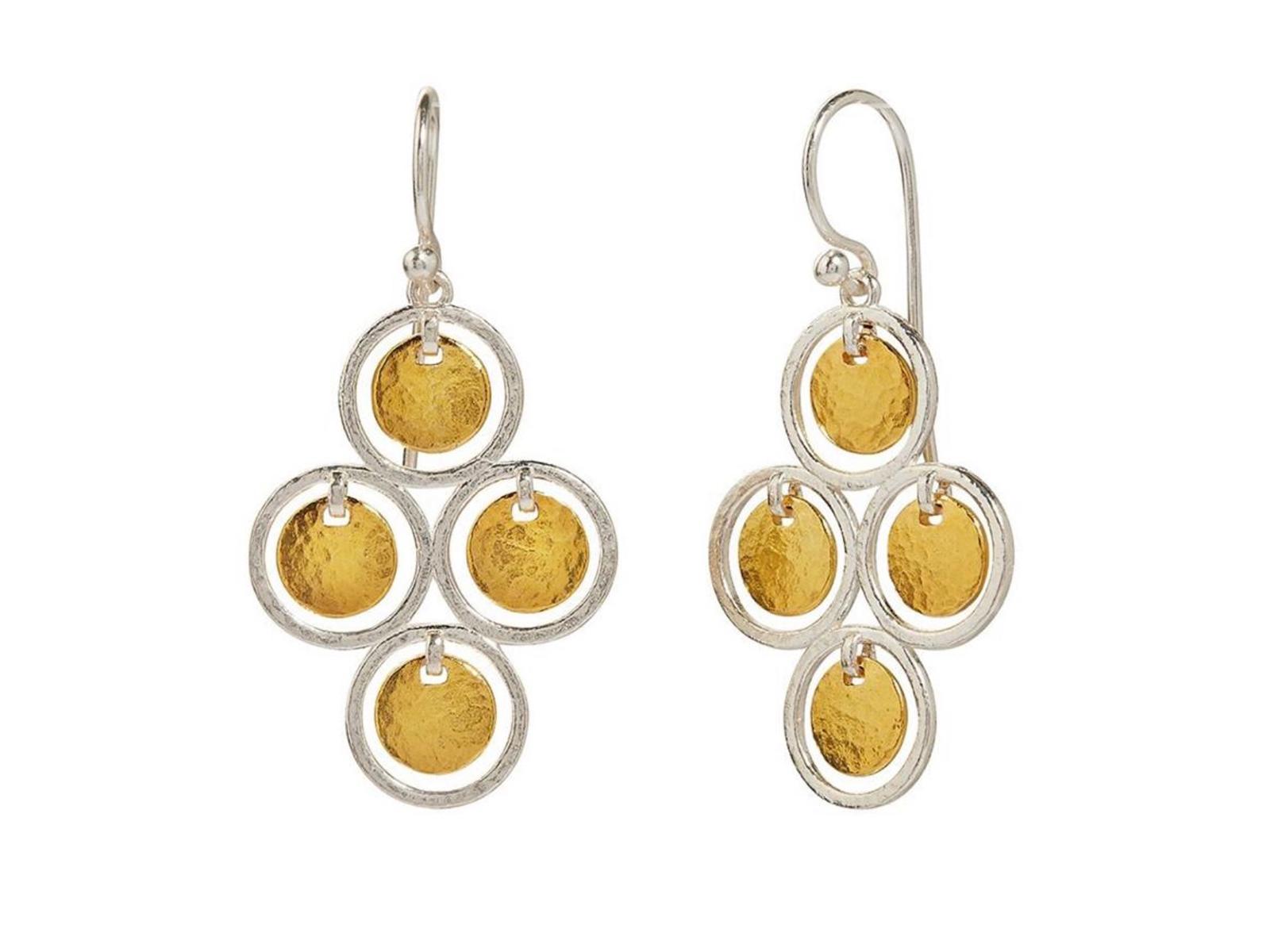 Four Gold Drop Earrings