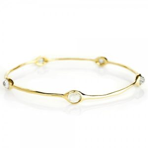Rock Candy® 18K Gold 5-Stone Bangle