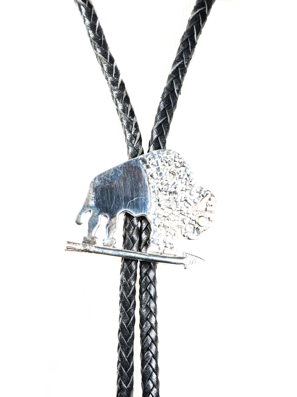 Sterling Silver Buffalo Bolo Tie