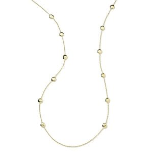 Glamazon® 18K Gold Circle Station Necklace 38""