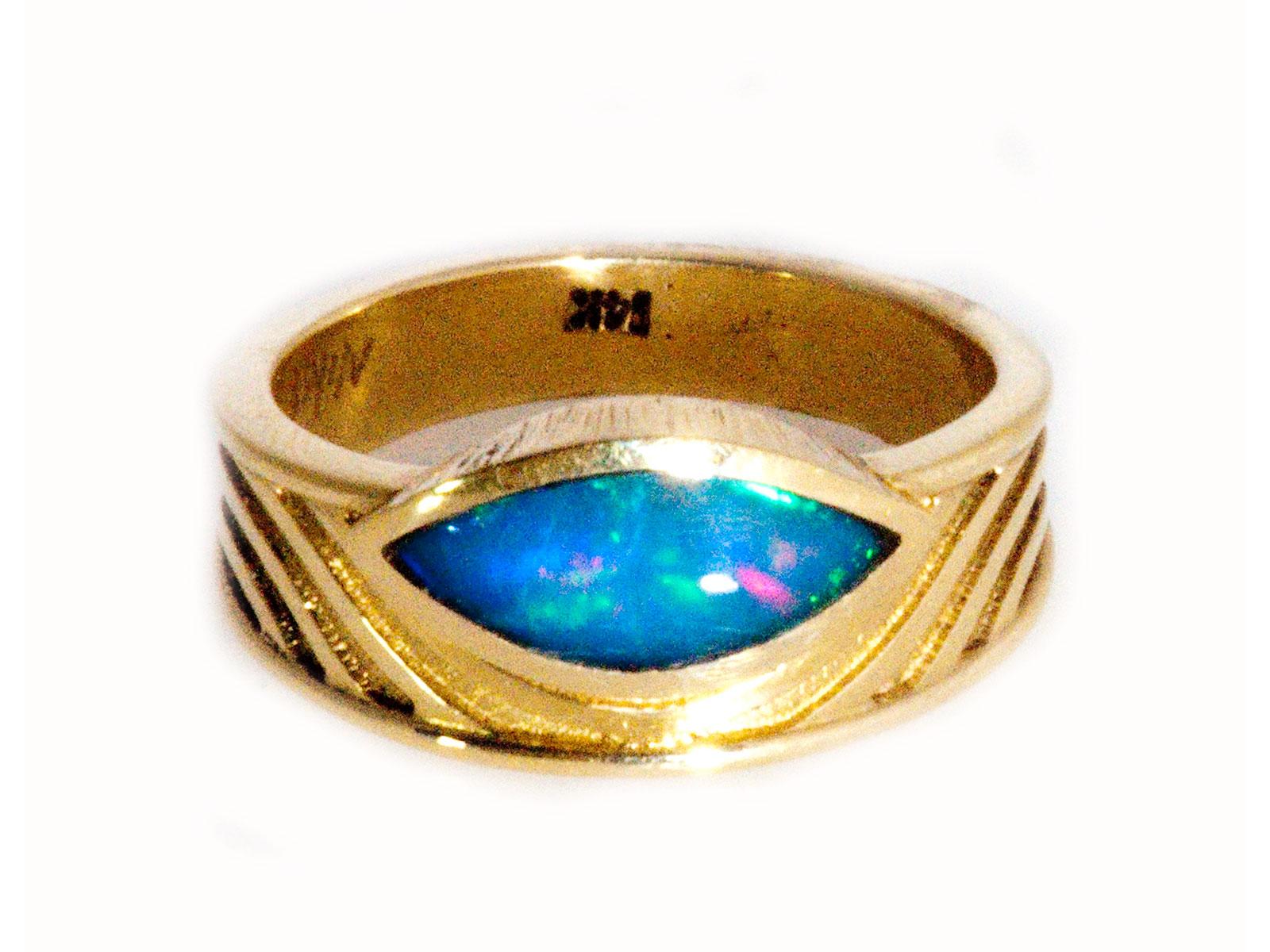 Ethiopian Opal Ring