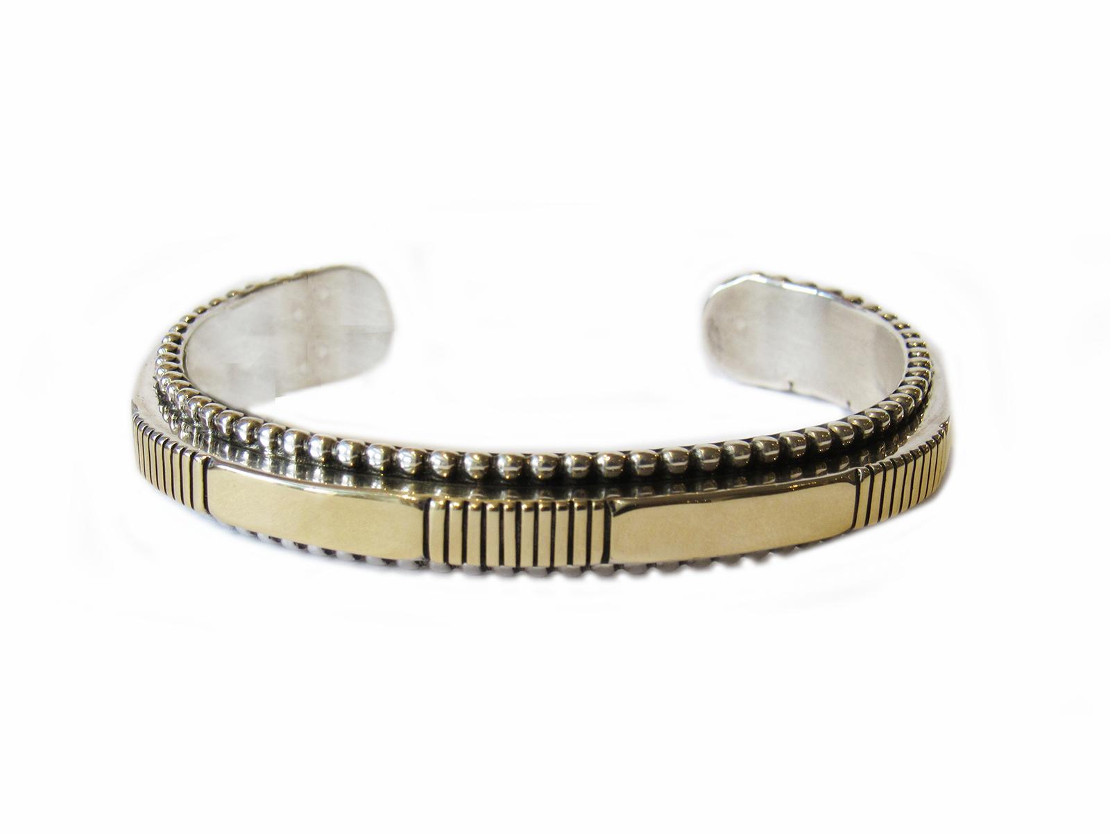 Heavy Gauge Gold Silver Cuff