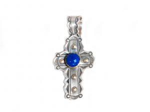 Lapis Cross Pendant