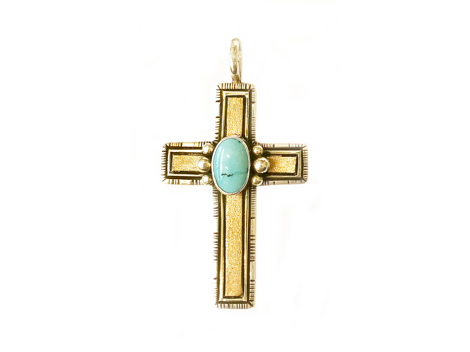 Gold Silver Kingman Cross Pendant