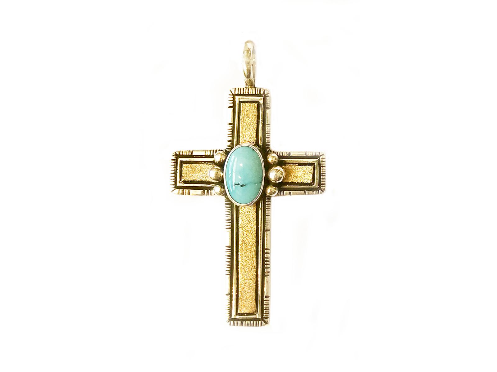 Gold Silver Kingman Cross Pendant