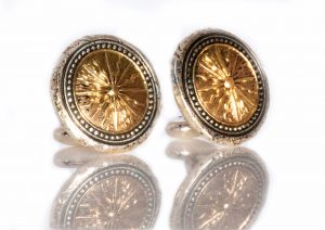 Gold Starburst Cuff Links