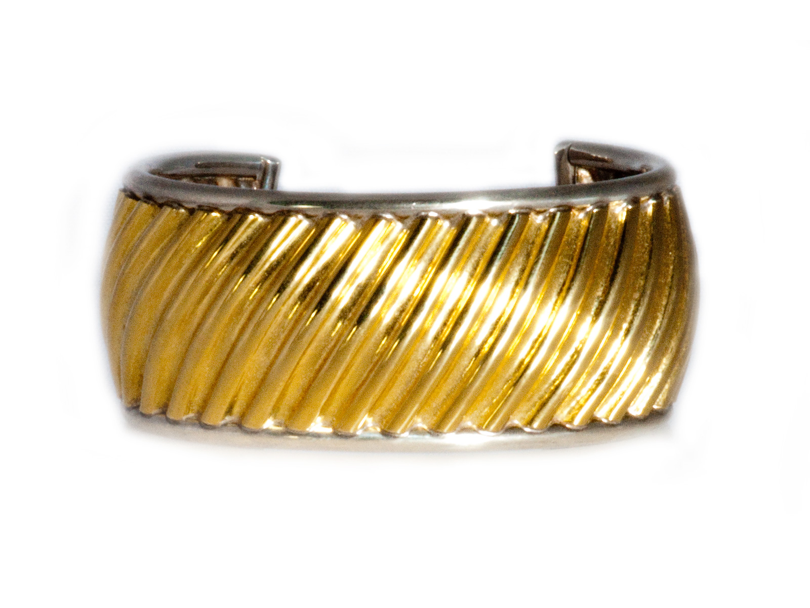 Sterling Silver Gold Cuff
