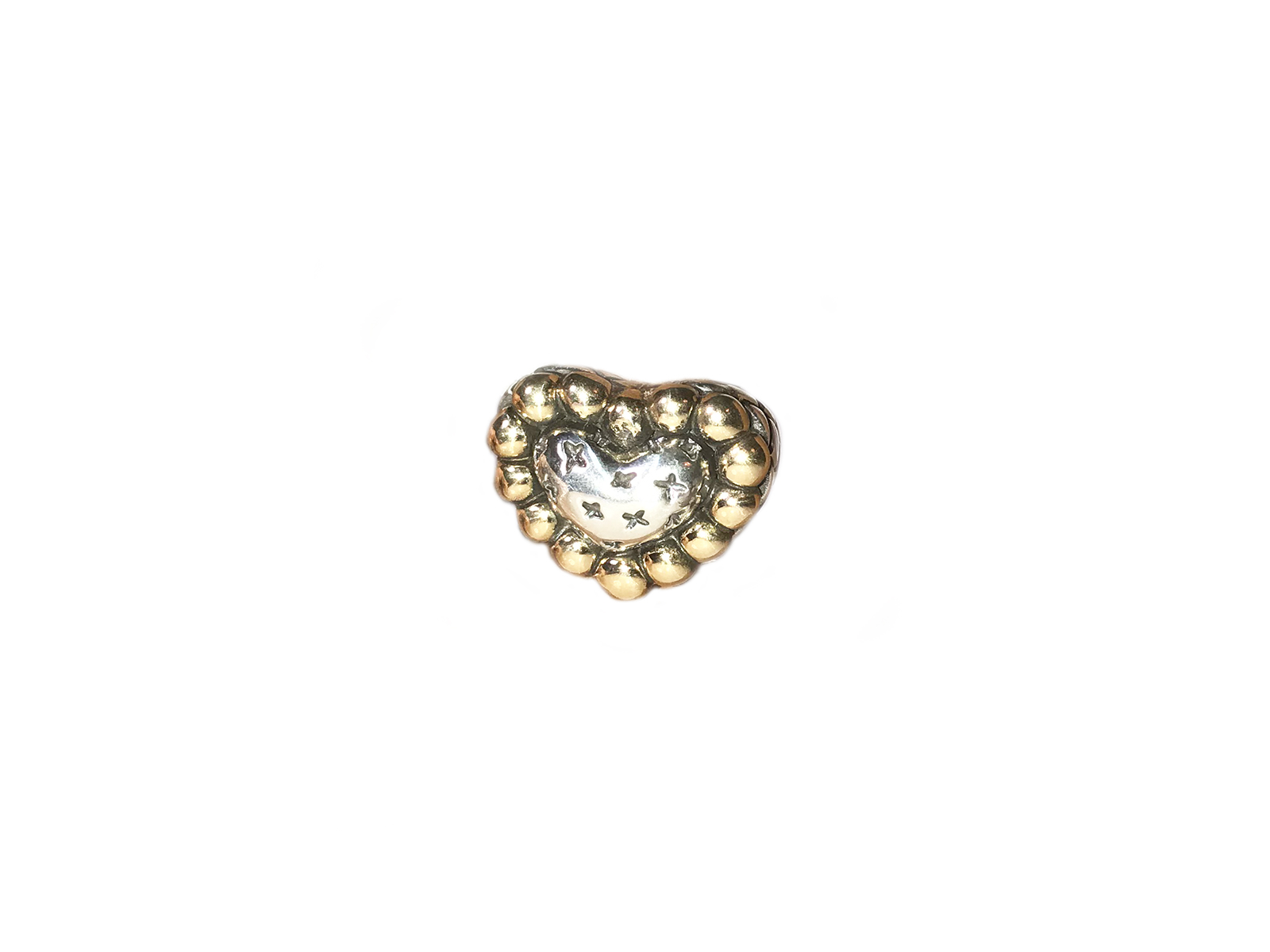 Silver Gold Heart Ring