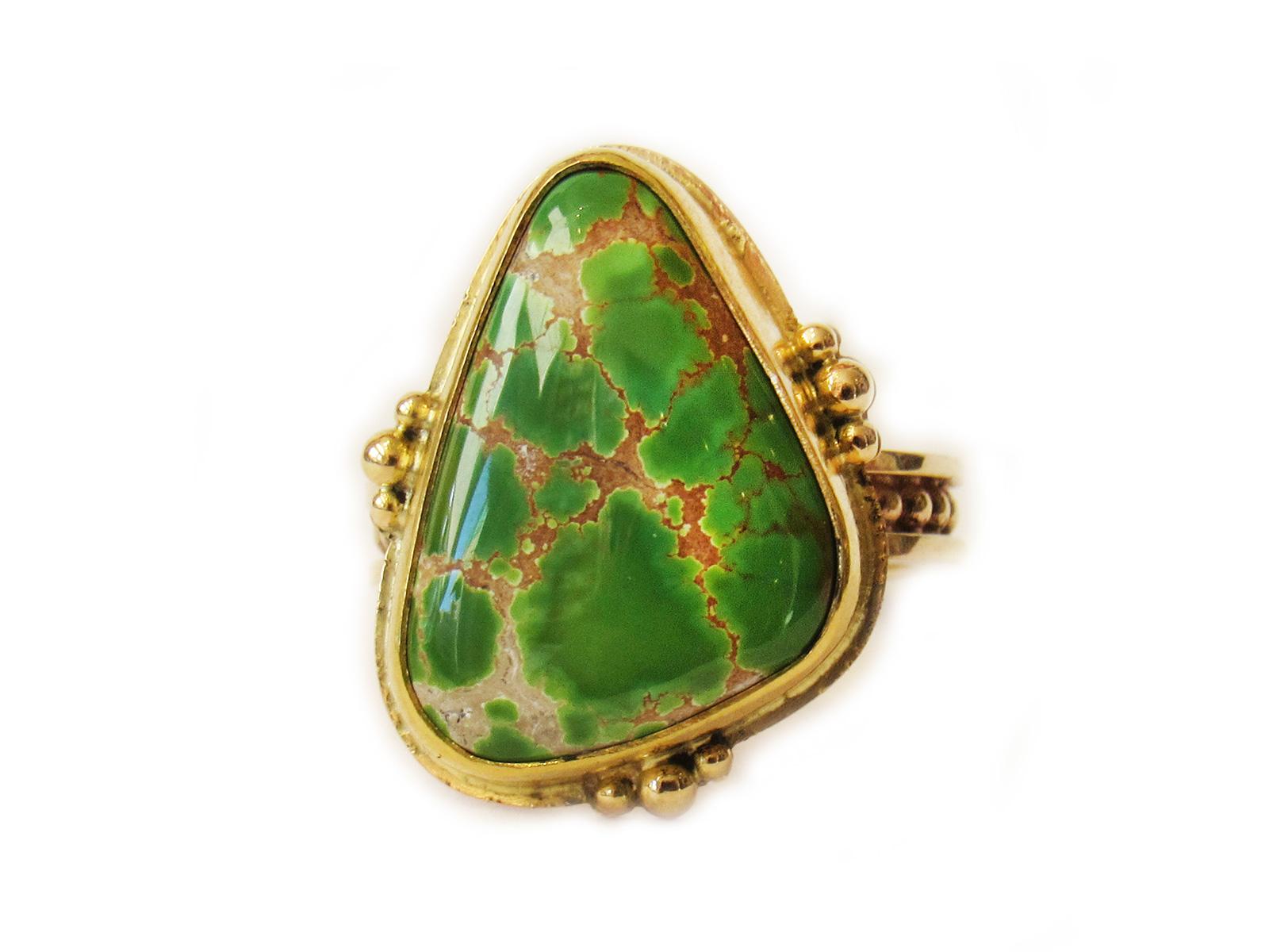 Grasshopper Turquoise Ring