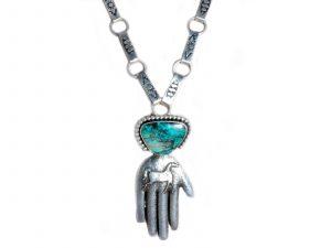 Tufa Cast Hand horse pendant