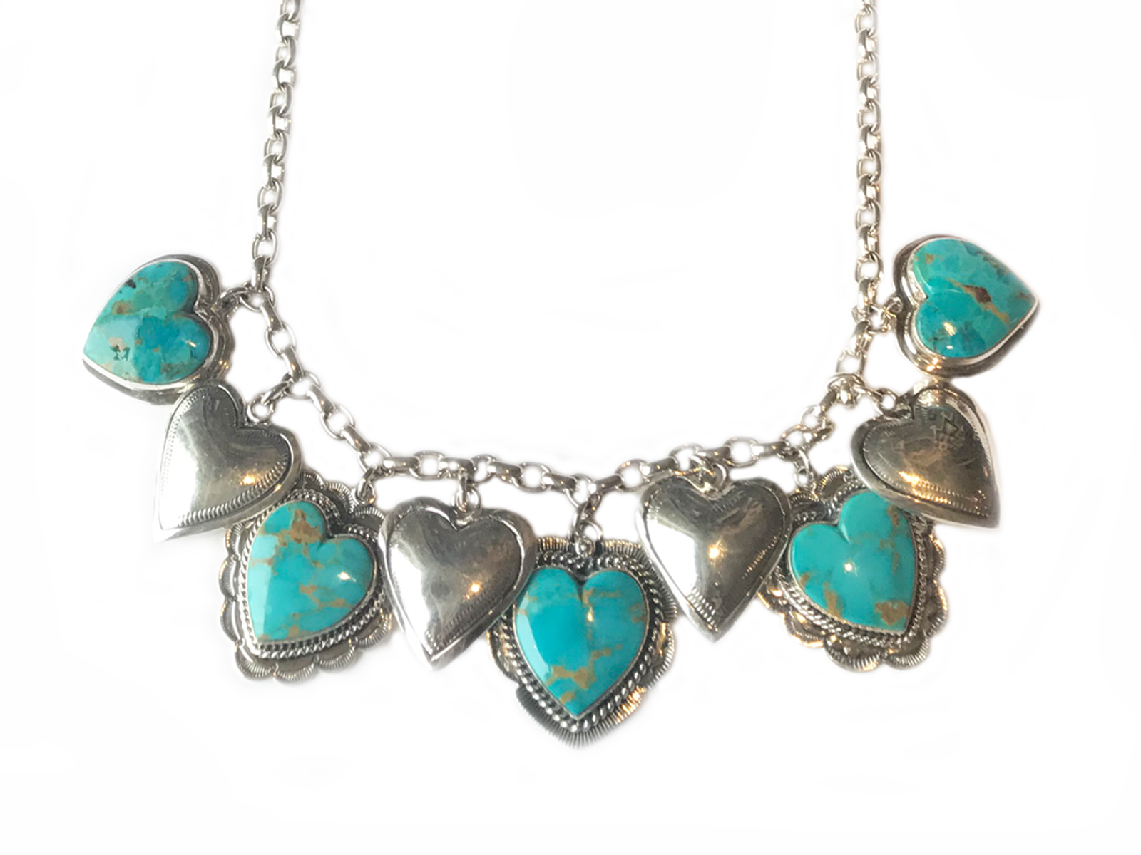 Multi Charm Heart Necklace