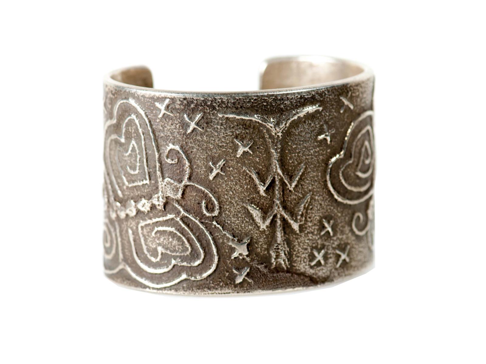 Sterling Silver Sandcast Bracelet