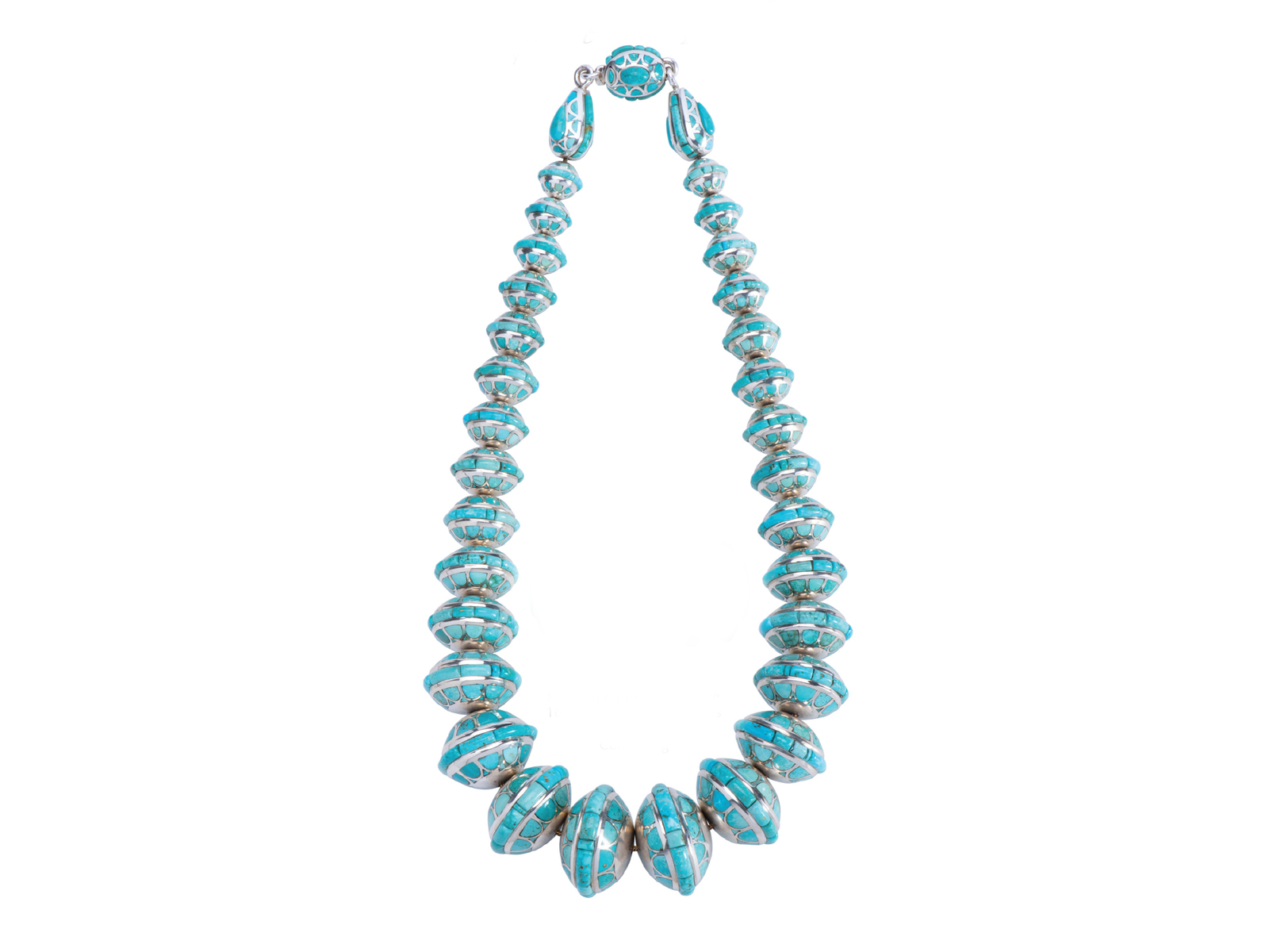 Argentium Silver Kingman Turquoise Necklace