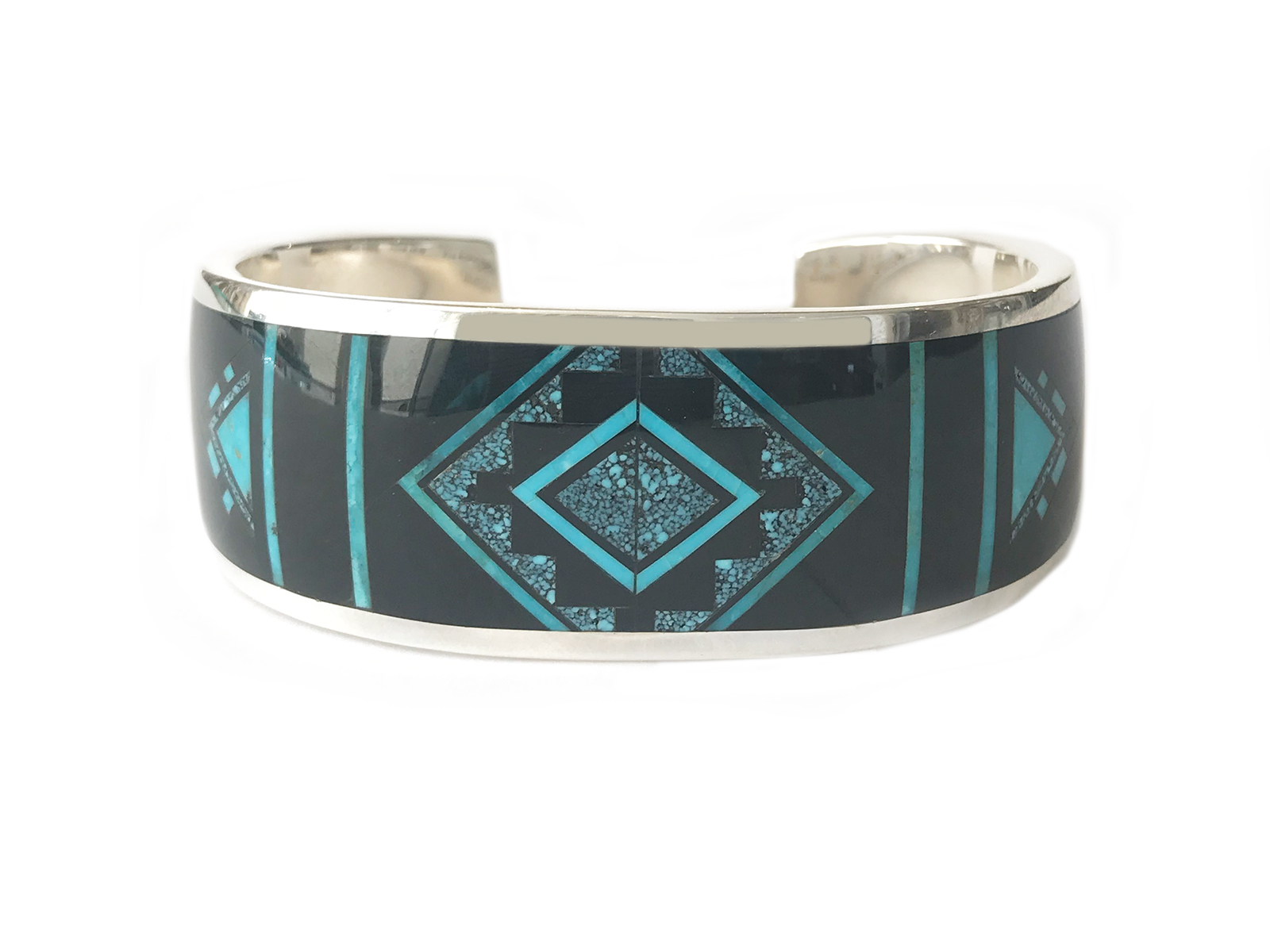 Ithaca Peak Turquoise Inlay Cuff
