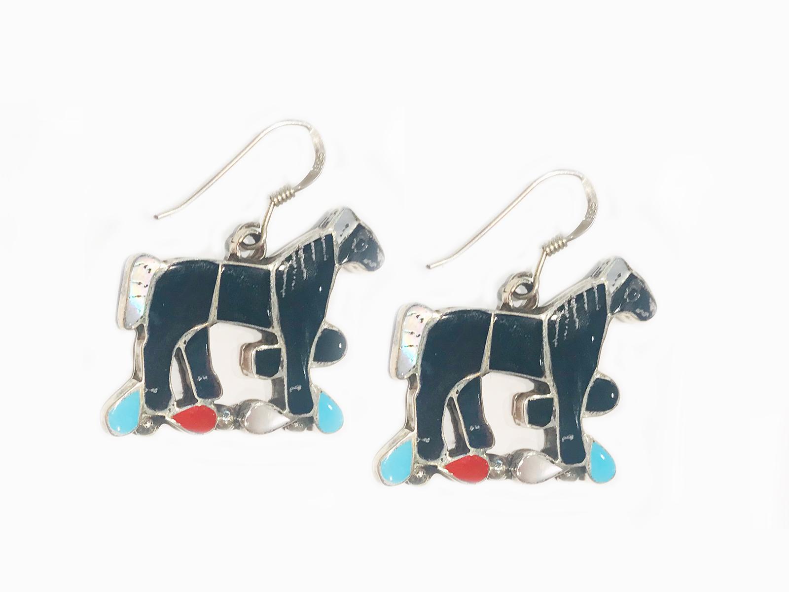 Horse Inlay Earrings