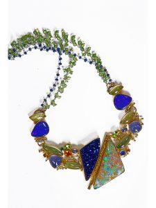 Opal Drusy Quartz Necklace