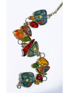 Cherry Jasper Opal Necklace