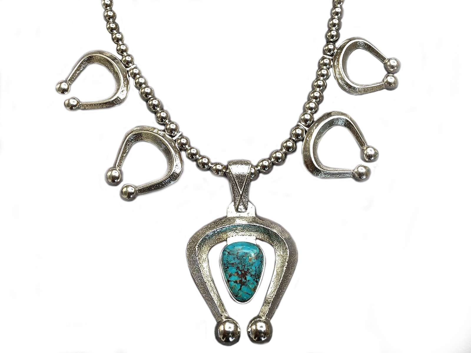 Natural Bisbee Turquoise Naja Necklace