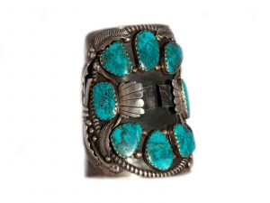 Blue Diamond Eight Stone Watch Cuff