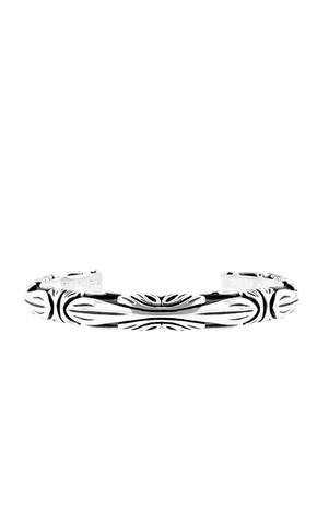 Fine Line Engraved Cuff