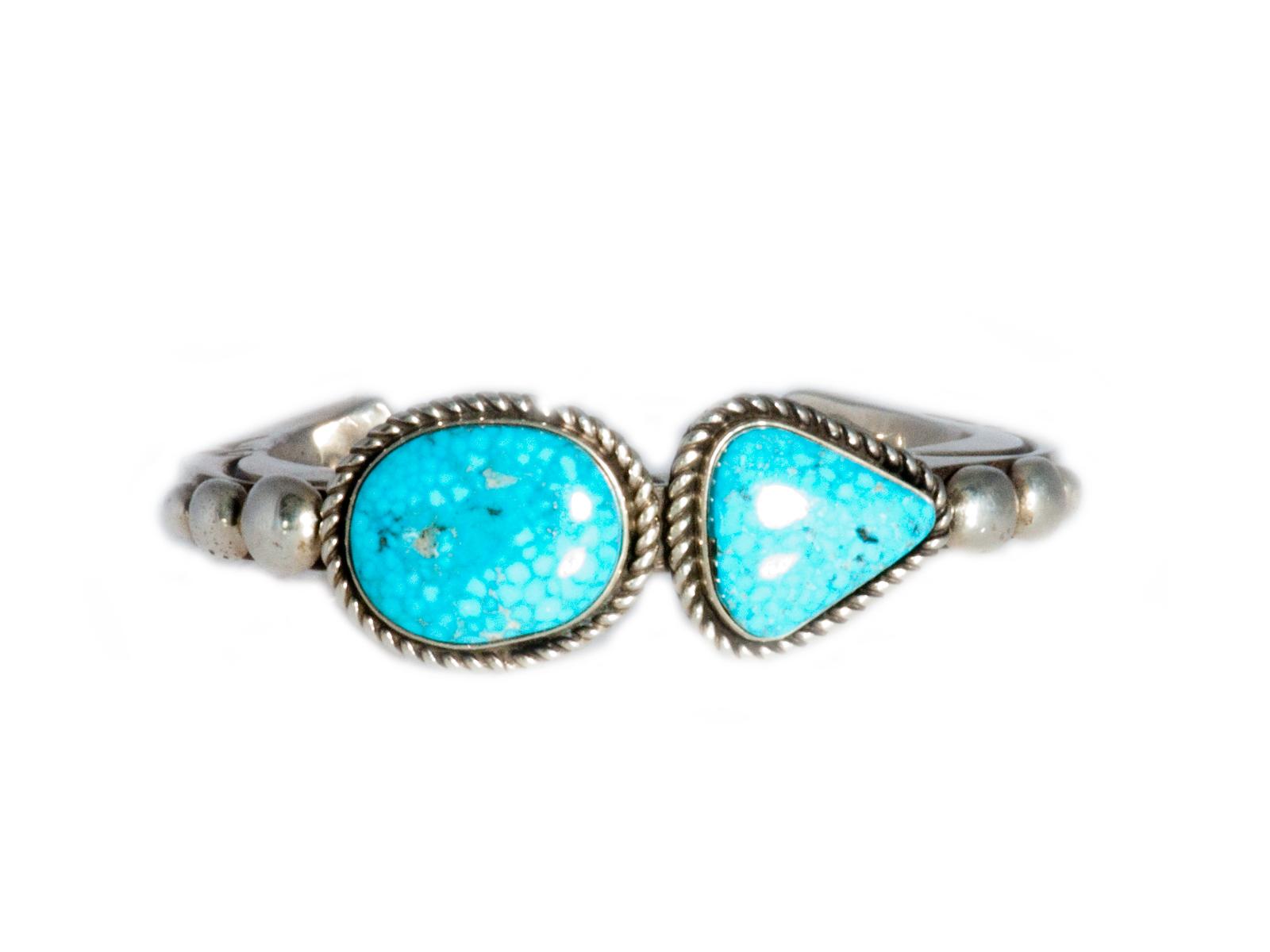 Two Stone Kingman Turquoise Cuff