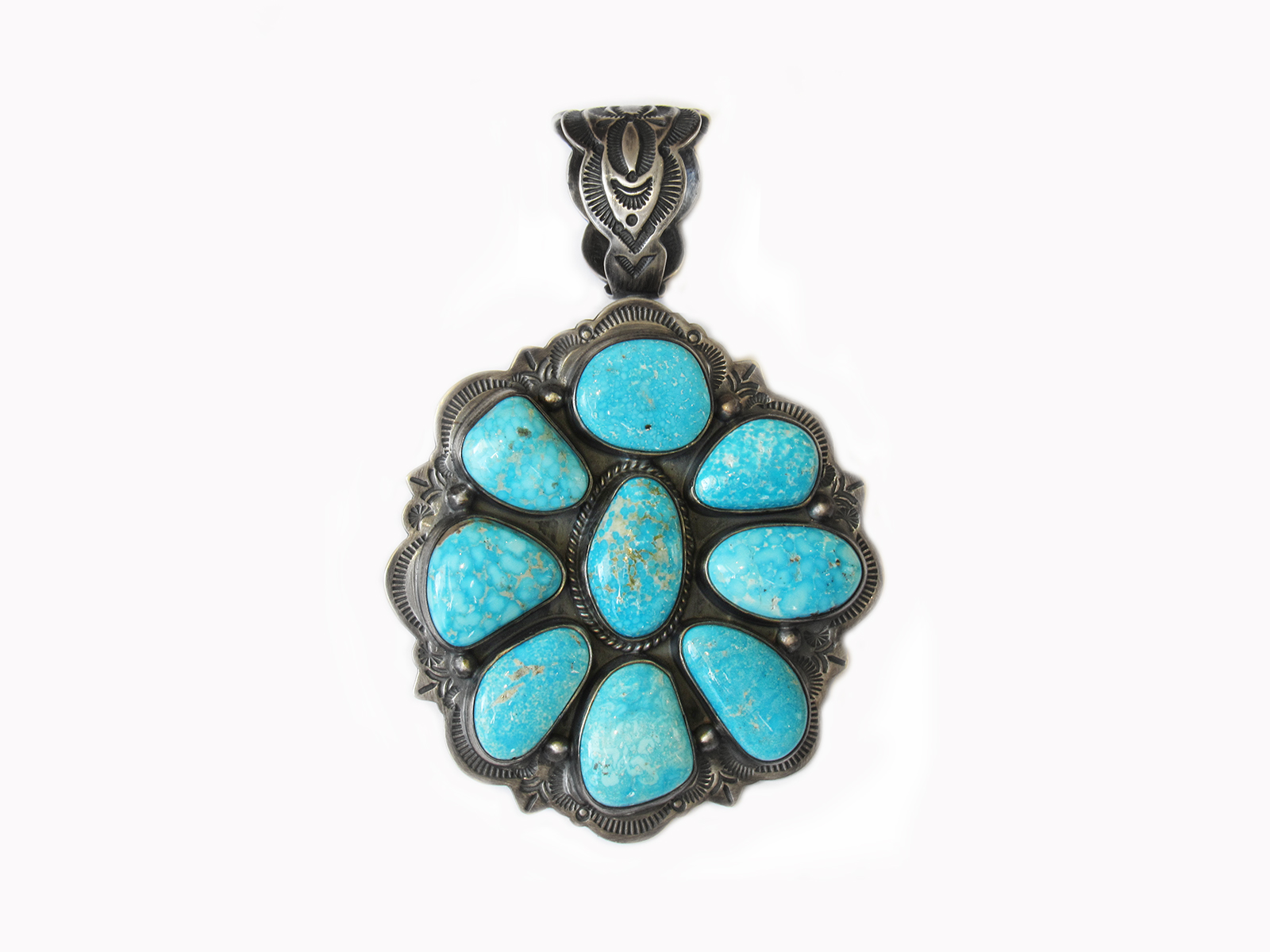 Kingman Turquoise Cluster Pendant