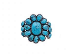 Kingman Turquoise Flower Cuff