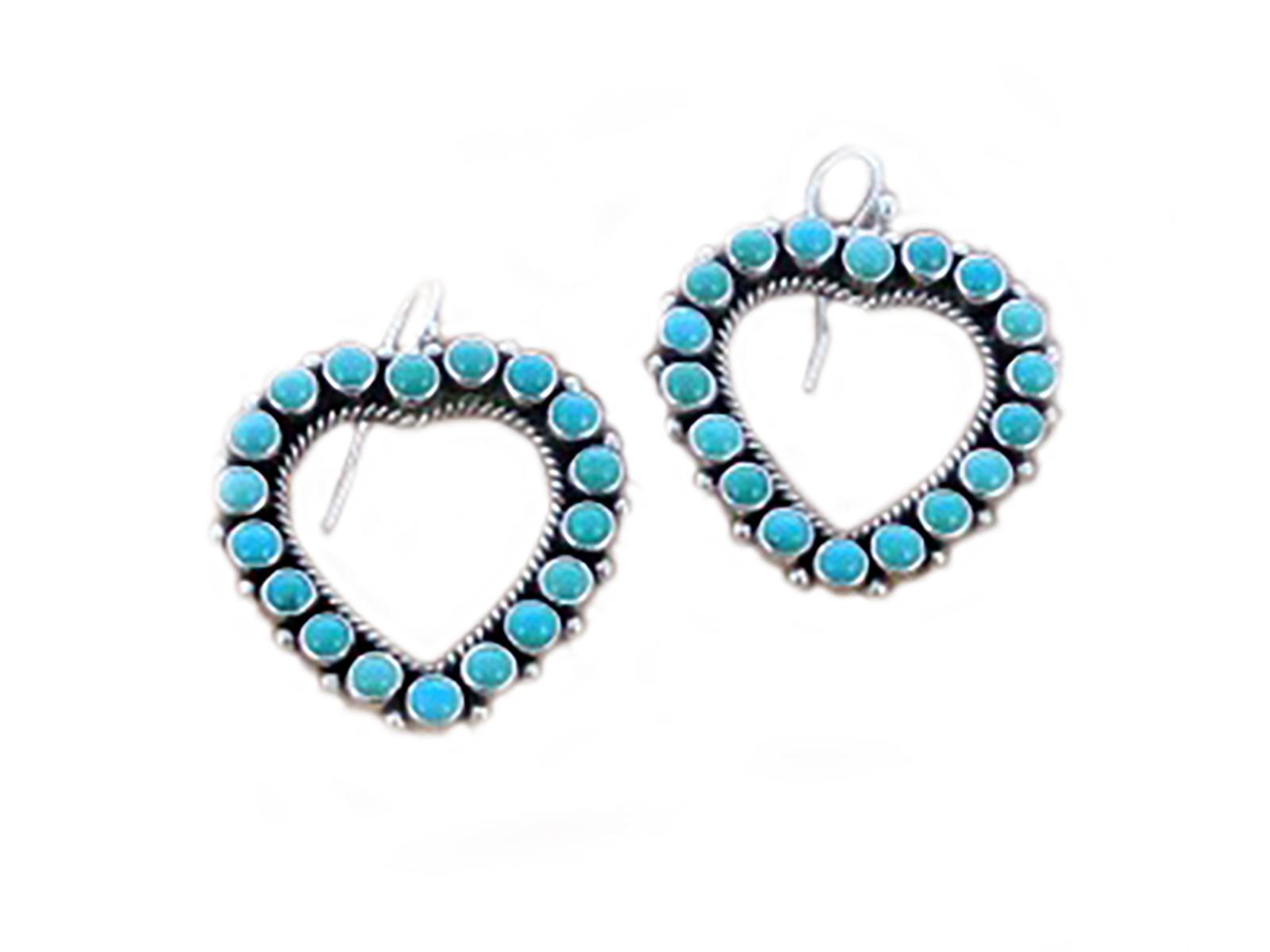 Kingman Heart Dangle Earrings