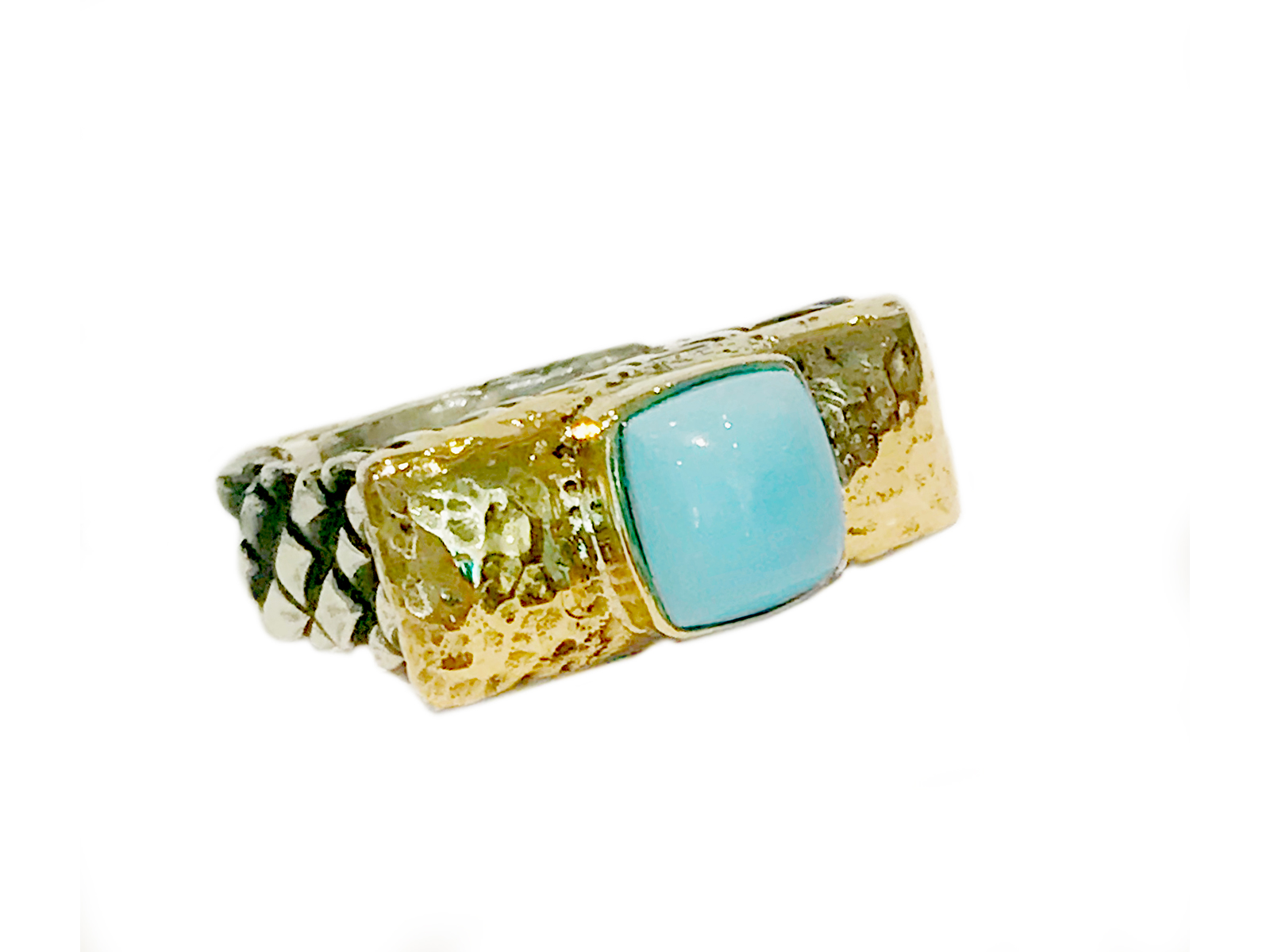 Kingman Turquoise Stack Ring