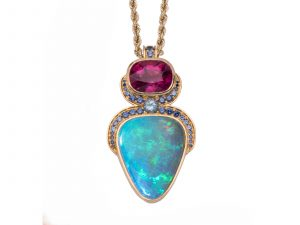 Blue Ridge Opal Pendant