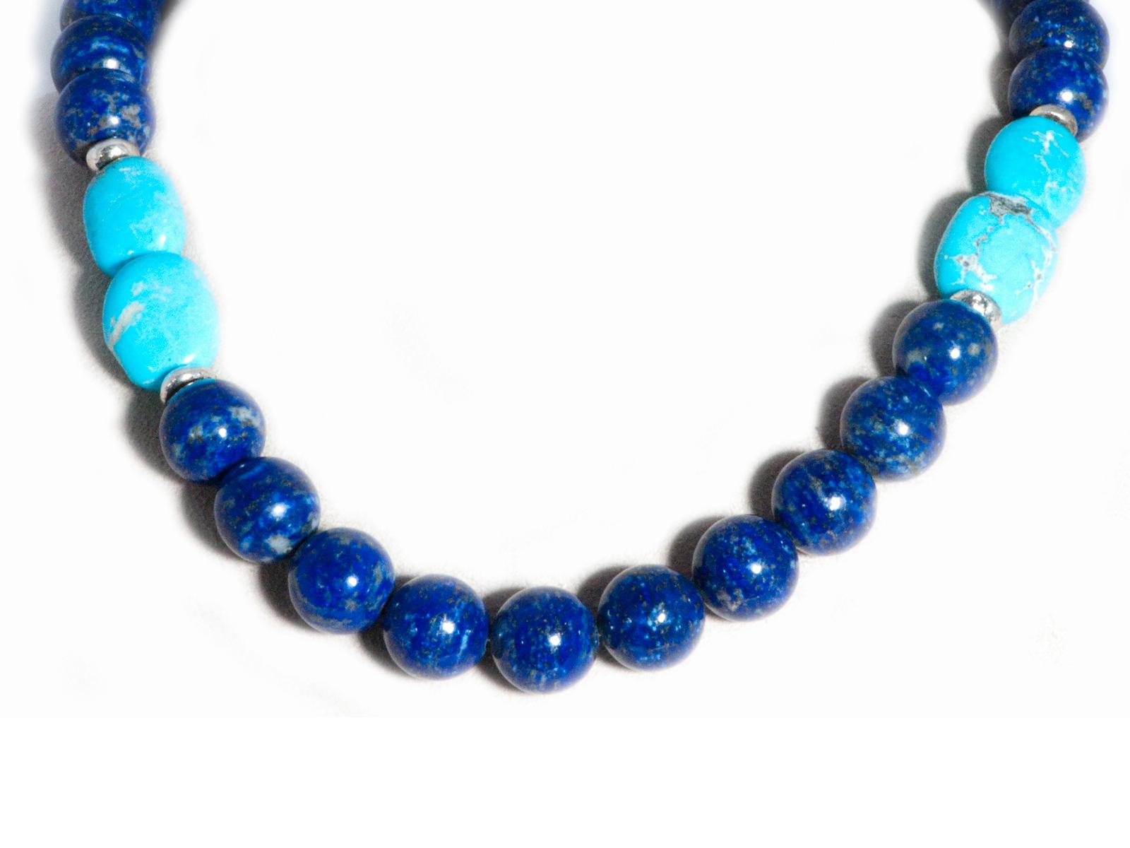 Lapis Kingman Beaded Necklace