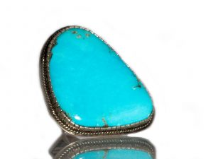 Large Sleeping Beauty Turquoise Ring