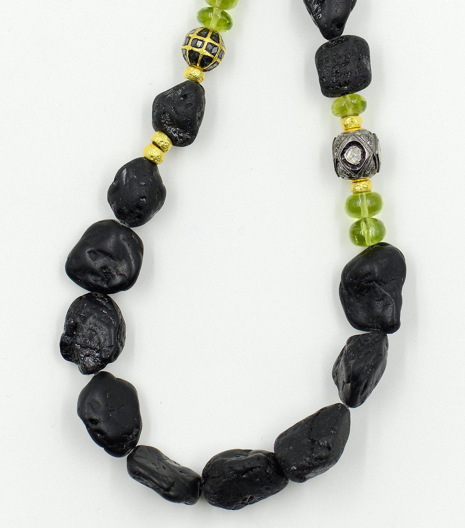 Lava Tourmaline Beaded Necklace