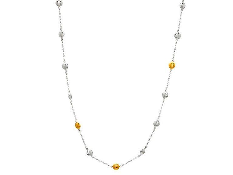 Lentil short station necklace