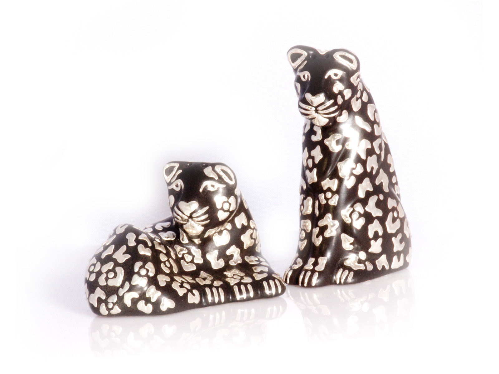 Black Leopard Salt Pepper Shakers