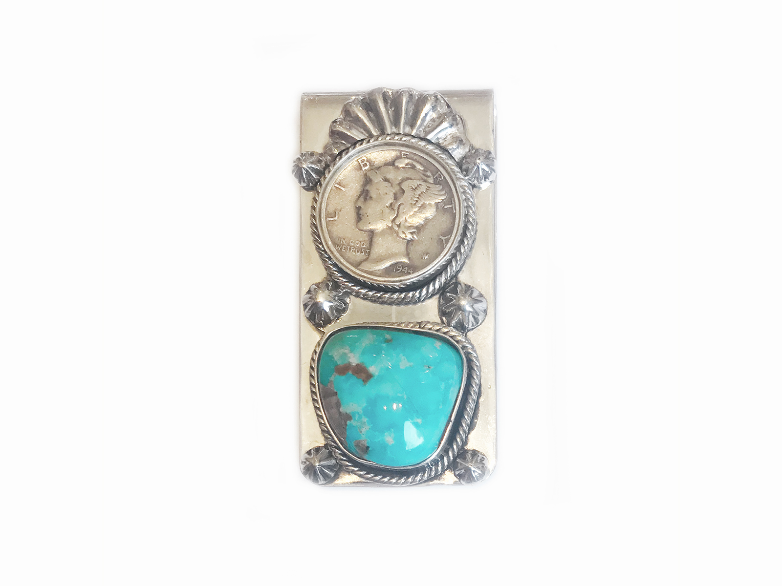 Liberty Coin Turquoise Money Clip
