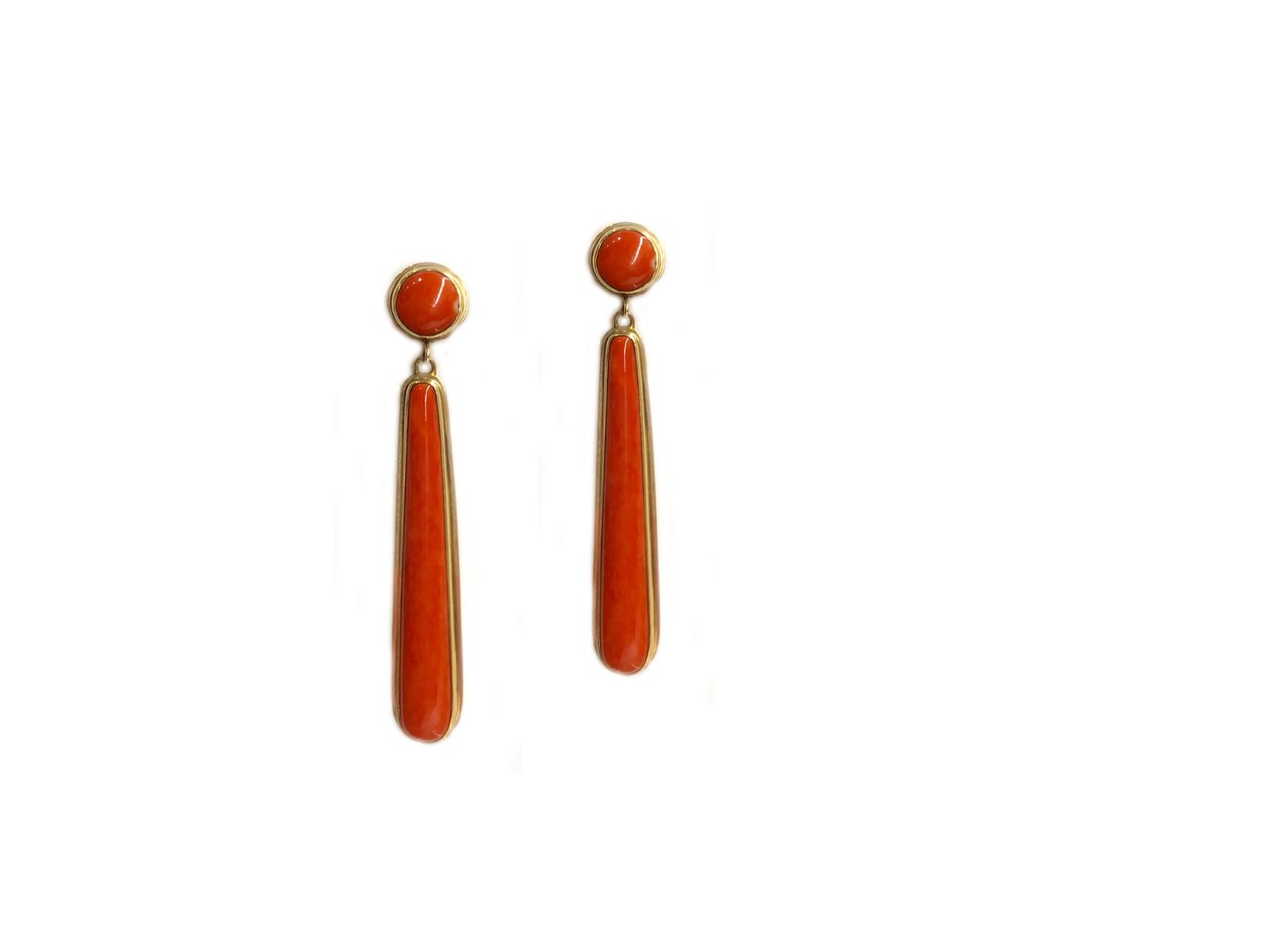 Mediterranean Coral Earrings