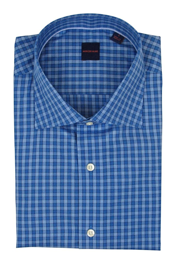 Mercer Blue Baton Rouge Dress Shirt