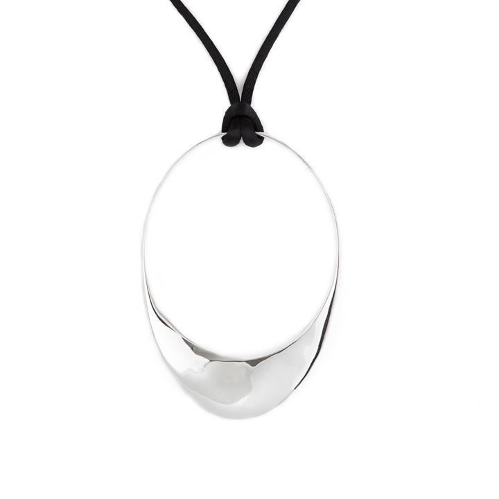 Sterling Silver Mobius Hoop Pendant