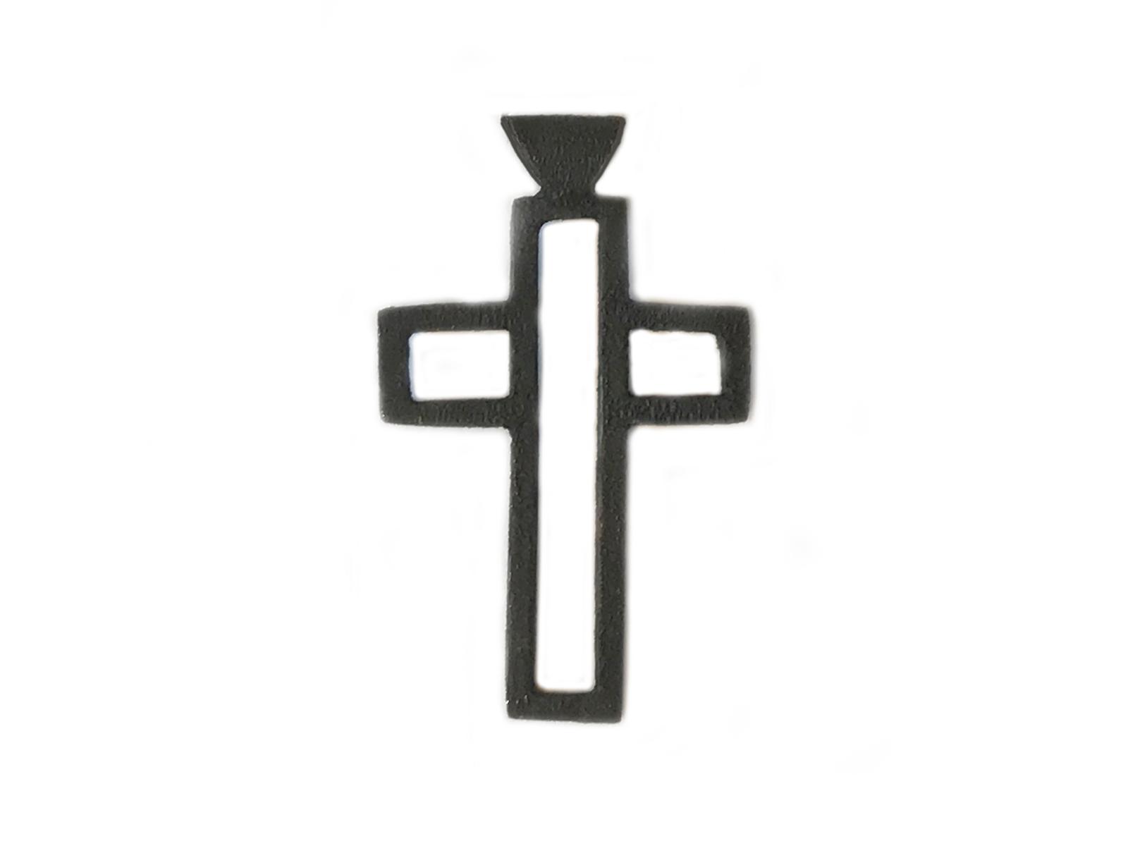 Oxidized Silver Cross Pendant