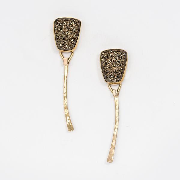 Drusy Dangle Earrings