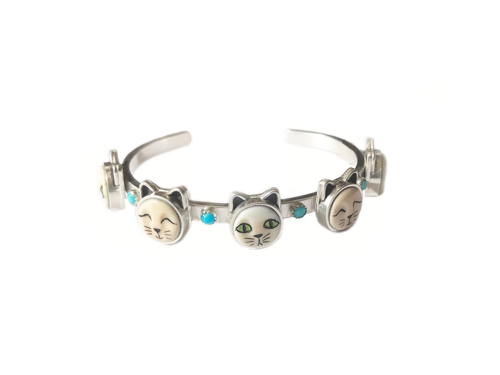 5 Face Cat Bracelet