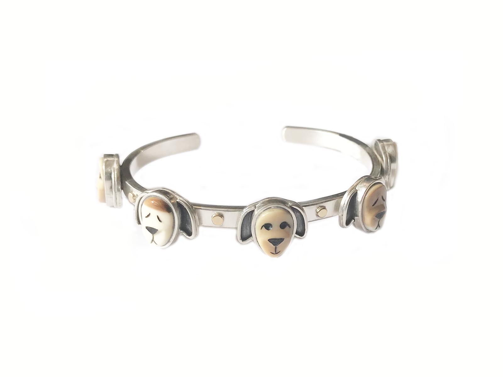 5 Face Dog Bracelet