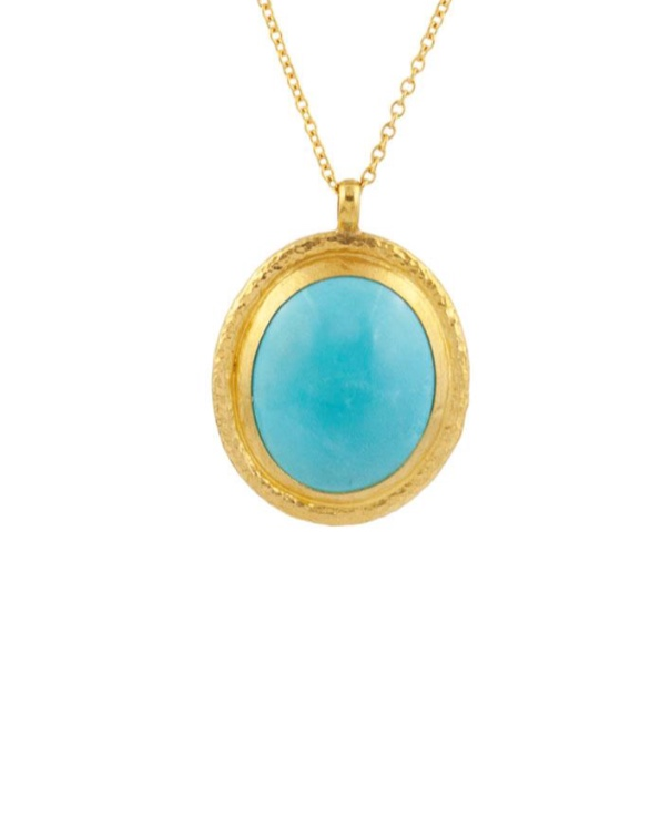 Muse Gold Turquoise Necklace