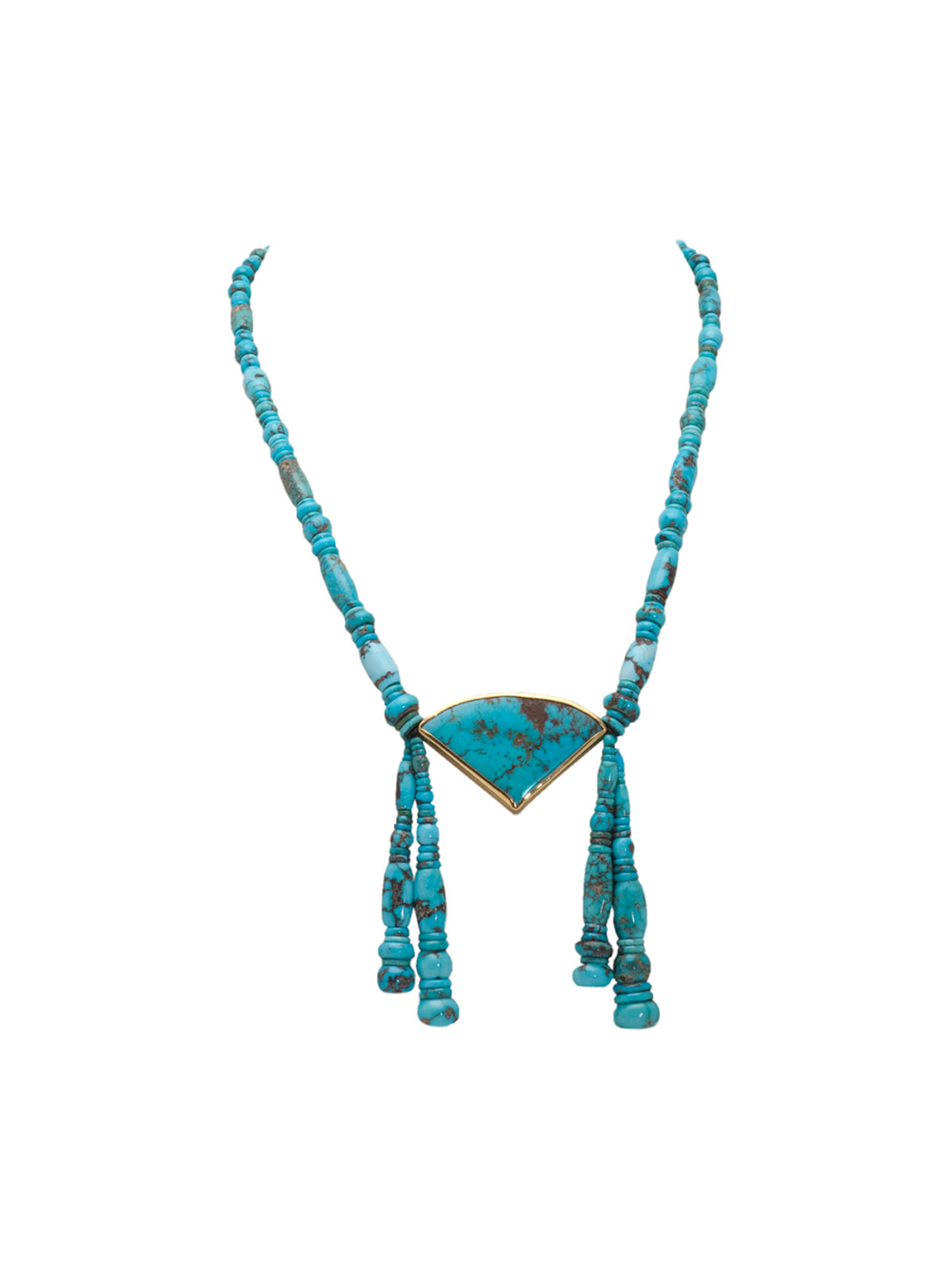 Godber burnham turquoise necklace with 22k gold godber burnham turquoise necklace aloadofball Choice Image