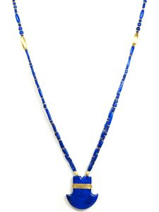 Lapis Pendant Lapis Bead Necklace