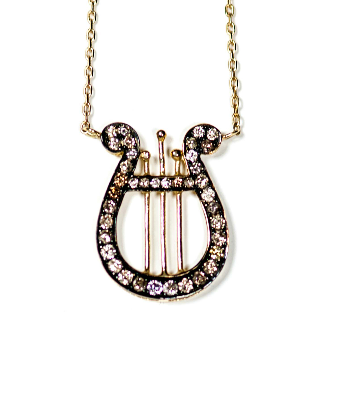 Lyre Necklace