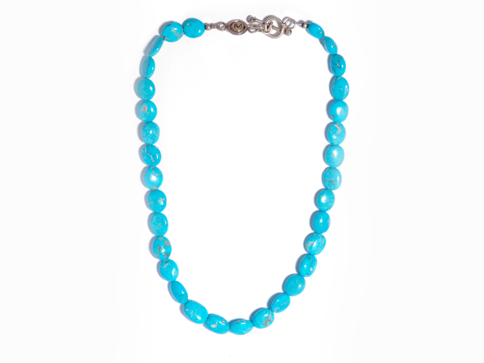 Natural Kingman Turquoise Beaded Necklace