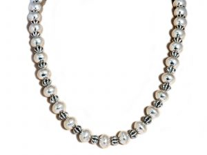Handmade Sterling Silver Beaded Necklace