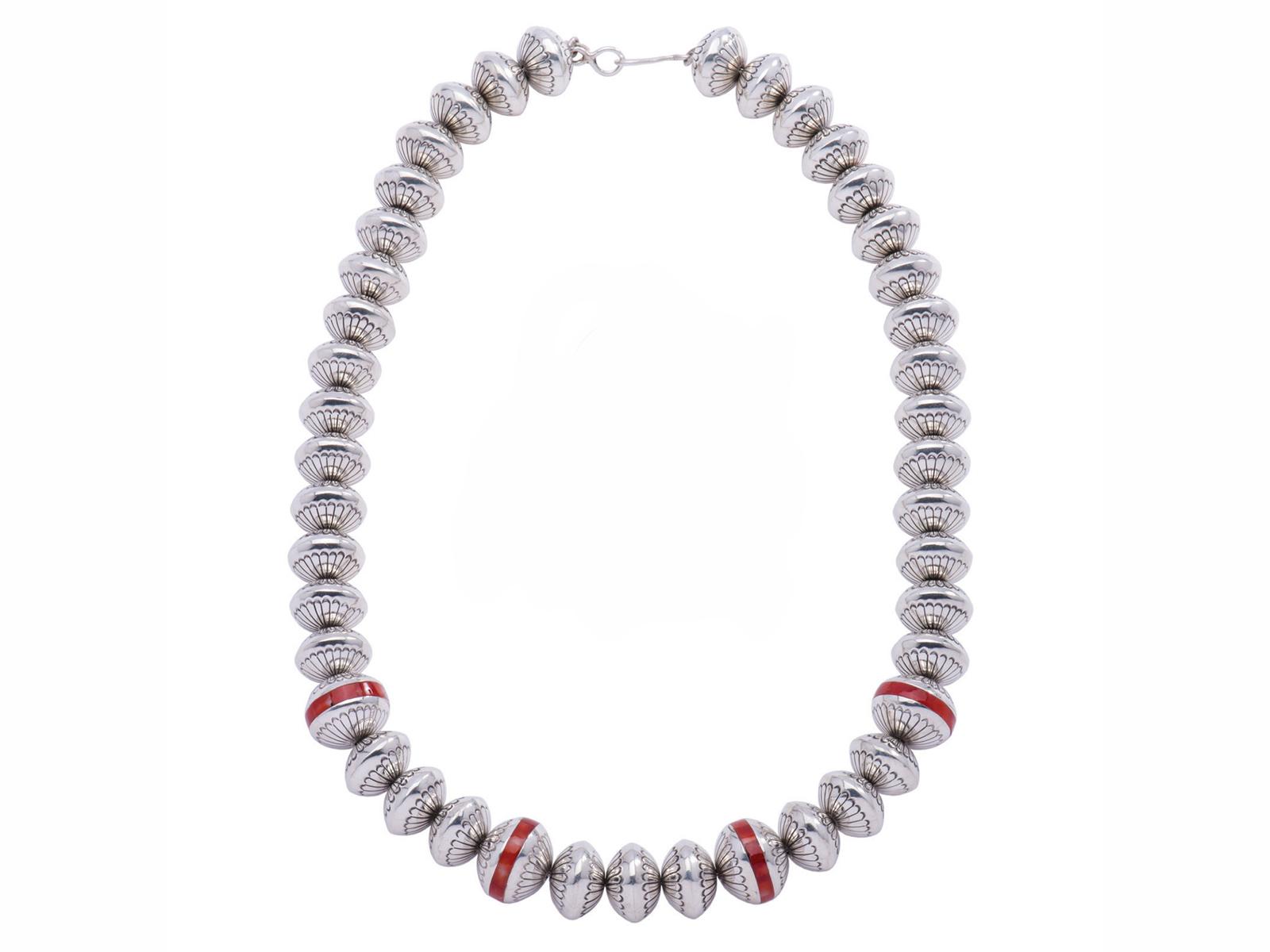 Coral Navajo Pearls